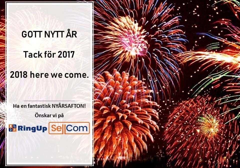 GOTT NYTT ÅR, 2018 here we come.